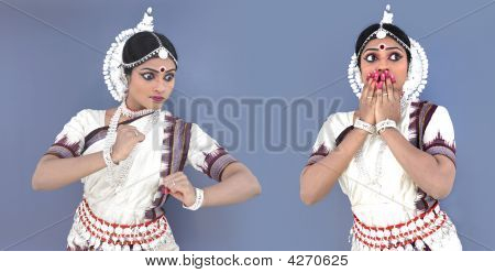 Female Classical Odissi Dancer From India