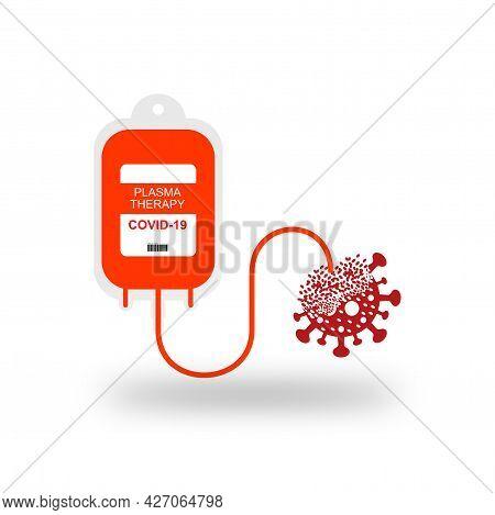 Premium Vector Blood Bag. Covid-19 Recovery Plasma.