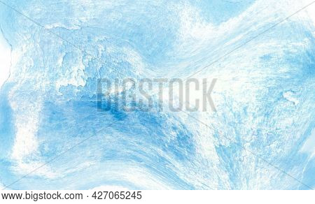 Watercolor Blue Background With Shades And Smooth Color Transitions. Illustration For Backgrounds, T