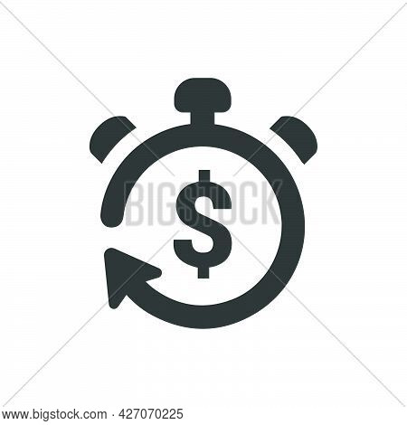 Return On Investments Icon. Meticulously Designed Vector Eps File.