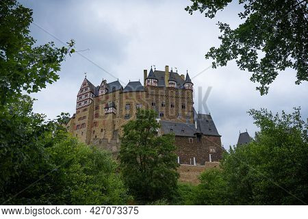 View From The Forest To Eltz Castle Near Koblenz, Germany