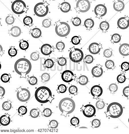 Black Washing Dishes Icon Isolated Seamless Pattern On White Background. Cleaning Dishes Icon. Dishw