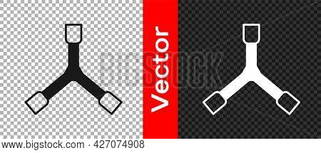 Black Skateboard Y-tool Icon Isolated On Transparent Background. Vector