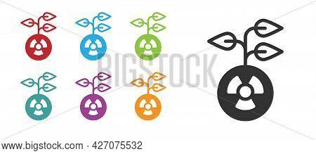 Black Radioactive Icon Isolated On White Background. Radioactive Toxic Symbol. Radiation Hazard Sign