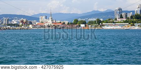 View From The Sea To The Sea Terminal In Sochi, Sochi 07.03.2021