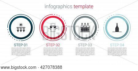 Set Drying Grapes, Wine Tasting, Degustation, Bottles Of Wine Box And . Business Infographic Templat