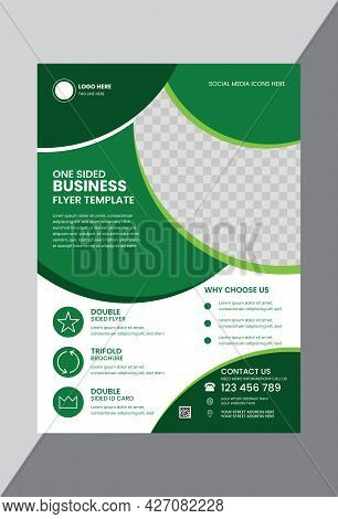 Green And White Corporate Business Flyer Design Template