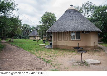 Kruger National Park, South Africa April 4 2021: Ea3u 3 Bed Rustic Huts In Letaba Rest Camp In Kruge