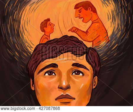 Psychological Problems. The Inner Child And The Inner Parent. Inner World, Suffering From Childhood