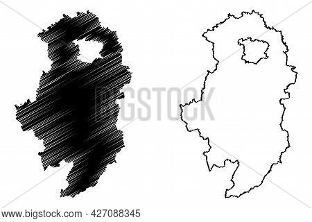 Oberallgau District (federal Republic Of Germany, Rural District Swabia, Free State Of Bavaria) Map