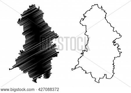 Oberhavel District (federal Republic Of Germany, Rural District, State Of Brandenburg) Map Vector Il