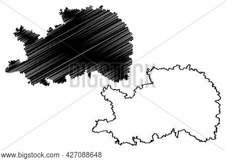 Ostalbkreis District (federal Republic Of Germany, Rural District, Baden-wurttemberg State) Map Vect