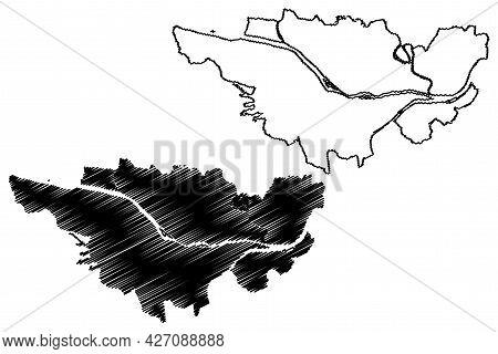 Passau City (federal Republic Of Germany, Urban District Lower Bavaria, Free State Of Bavaria) Map V