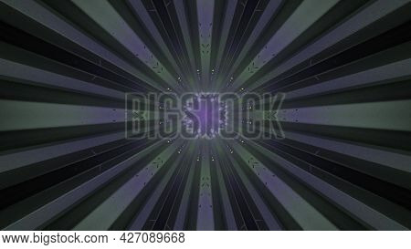 Tunnel Perspective With Light Effects 4k Uhd 3d Illustration