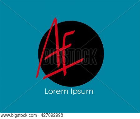 Initial Handwritten Ae Name Initial Logo Design, Logo For Corporate Identity, Company Name, Product