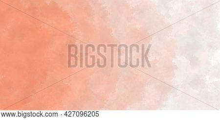 Abstract Watercolor Background In The Form Of A Gradient From Peach To White. Grange Pale Pink Illus