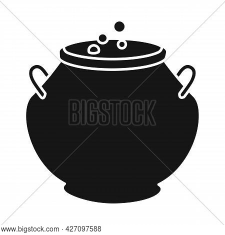 Vector Illustration Of Cauldron And Potion Logo. Web Element Of Cauldron And Boiler Vector Icon For