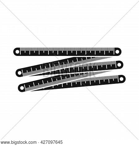 Vector Illustration Of Ruler And Measure Sign. Graphic Of Ruler And Instrument Stock Vector Illustra