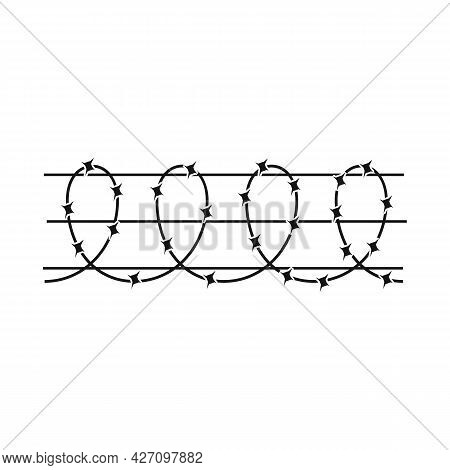 Vector Illustration Of Barbwire And Wire Icon. Web Element Of Barbwire And Fence Stock Vector Illust