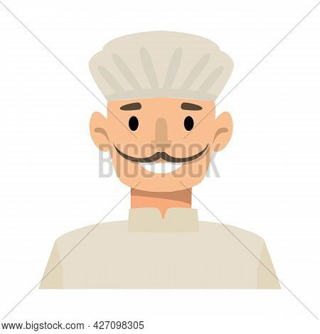 Vector Design Of Man And Confectioner Logo. Collection Of Man And Hat Vector Icon For Stock.