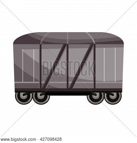 Isolated Object Of Wagon And Cargo Sign. Web Element Of Wagon And Boxcar Stock Vector Illustration.
