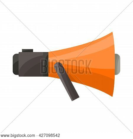 Isolated Object Of Megaphone And Warning Sign. Graphic Of Megaphone And Scream Vector Icon For Stock