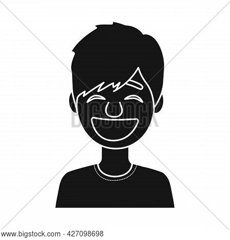Isolated Object Of Guy And Laugh Symbol. Set Of Guy And Emotion Stock Symbol For Web.