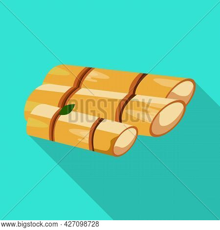 Isolated Object Of Sugar And Cane Logo. Collection Of Sugar And Plant Vector Icon For Stock.