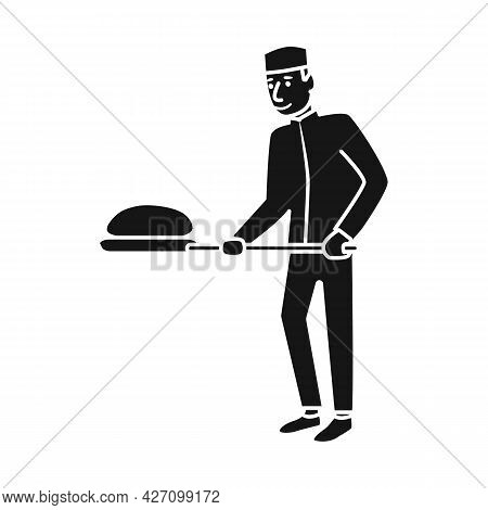 Isolated Object Of Baker And Spatula Sign. Collection Of Baker And Bread Stock Symbol For Web.