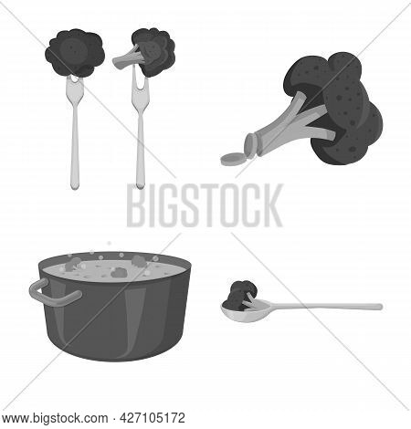Vector Illustration Of Eating And Diet Icon. Collection Of Eating And Agriculture Vector Icon For St