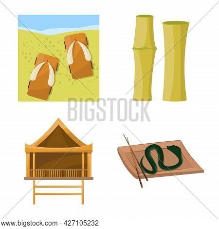 Isolated Object Of Vietnam And Traditional Icon. Collection Of Vietnam And Asia Vector Icon For Stoc