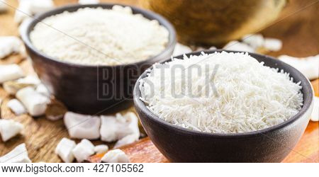 Grated Coconut Made In C Asa, Organic Cooking Ingredient Used As A Cooking Ingredient