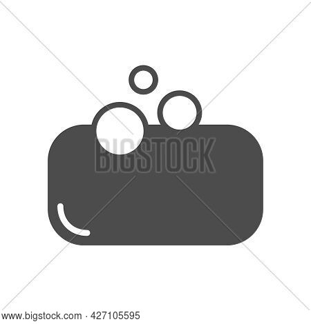 Soap Silhouette Vector Icon Isolated On White Background. Soap Icon For Web, Mobile Apps, Ui Design