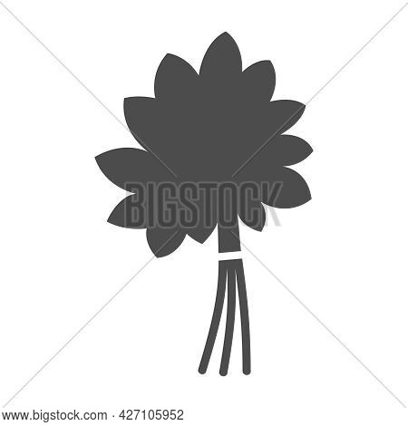 Sauna Broom Silhouette Vector Icon Isolated On White Background. Bath Broom Icon For Web, Mobile App