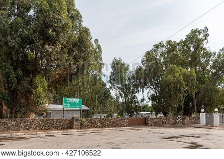 Willowmore, South Africa - April 21, 2021: Entrance To The Caravan Park In Willowmore In The Eastern