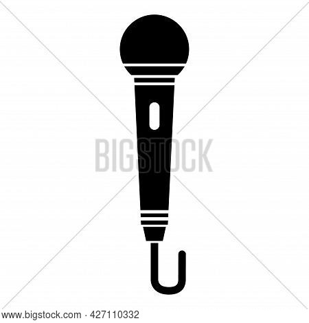 Microphone Icon, Audio Speech Symbol, Record Concert Sign, Web Button Design, Karaoke Flat Speak .