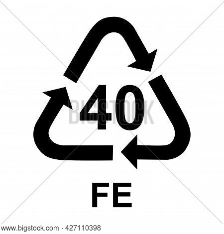 Metals Symbol, Ecology Recycling Sign Isolated On White Background. Package Waste Icon .