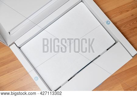 Antalya, Turkey - July 18, 2021: Unboxing Experience Of The Apple New M1 Chip Imac.