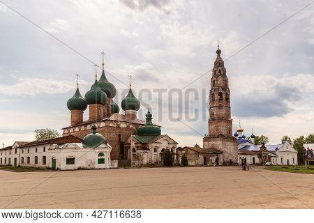 Velikoye, Yaroslavl Region, Russia - May 2019: Temples Of The Velikoselsky Kremlin. Church Of The Na