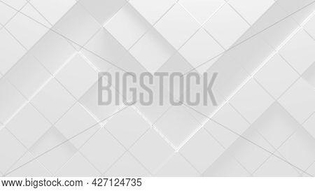 White Business Style Volumetric Background (3d Render Llustration)