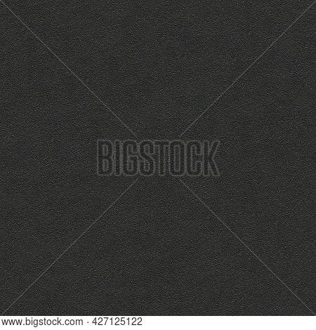 Black Grainy Plastic Background - Detail Seamless Tileable Texture