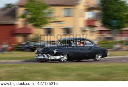 Buick Jack Whitaker Retro Black Car. Speed