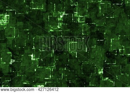 Modern Design Green Web Optic Glow Cg Texture Or Background Illustration