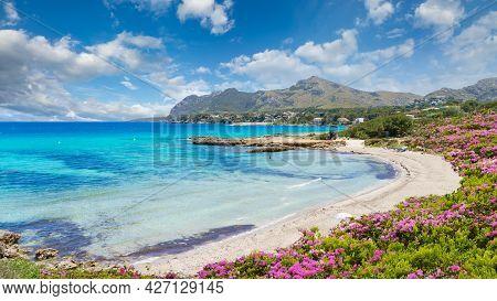Landscape With Sant Pere Beach Of Alcudia, Mallorca Island, Spain