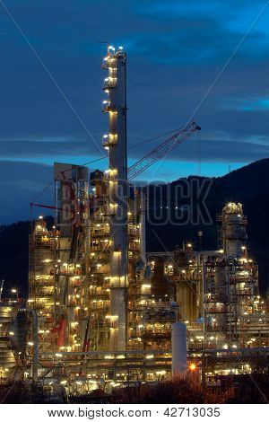Refinery In Muskiz, Bizkaia, Basque Country, Spain