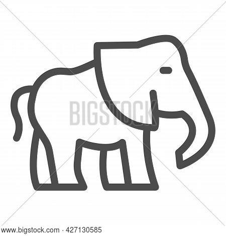 Elephant Line Icon, Worldwildlife Concept, Baby Elephant Vector Sign On White Background, Baby Eleph