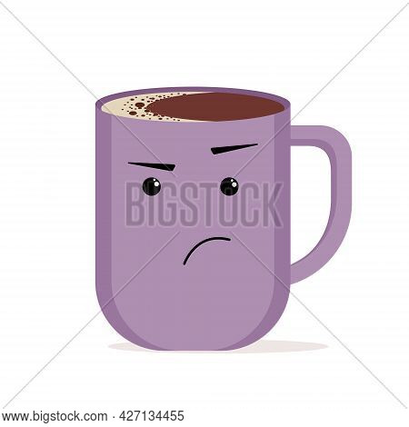 Illustration Of A Colored Cup With Emotions Of Surprise And Indignation