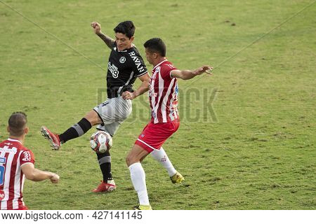 Rio, Brazil - July 18, 2021: German Cano Player In Match Between Vasco 1 Vs 1 Nautico By 12th Round