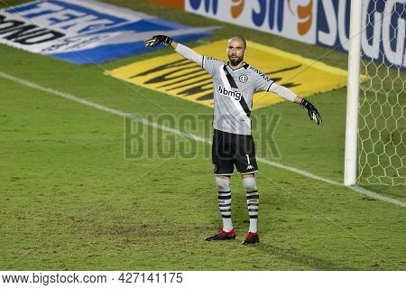 Rio, Brazil - July 18, 2021: Vanderlei Player In Match Between Vasco 1 Vs 1 Nautico By 12th Round Of