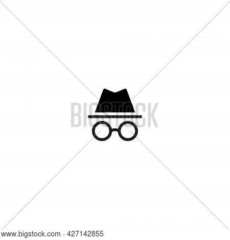 Incognito Icon Vector. Private Browsing Symbol Image